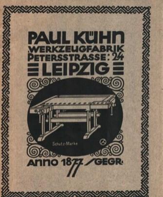 Paul Kühns Katalog von 1925