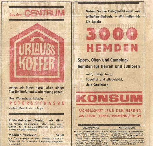 Centrum- und Konsum-Werbung