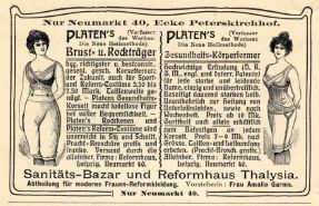 Thalysia-Werbung von 1902 in einem Programmheft des Centraltheaters
