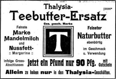 Thalysia-Werbung von 1909 in der LVZ