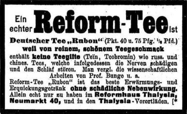 Thalysia-Werbung von 1910 in der LVZ