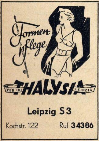 Thalysia-Anzeige aus dem Jahr 1957