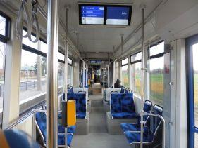 In einer Leipziger Straßenbahn