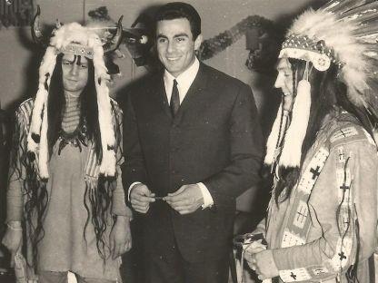 Gojko Mitic 1966 bei den Mandan von Taucha (Foto: Archiv J.R.)