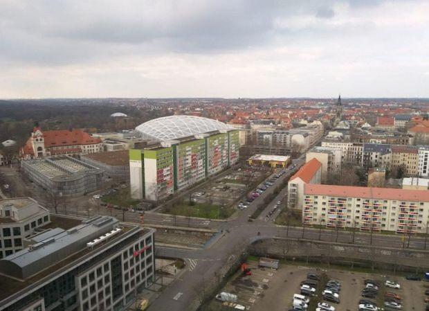 Blick vom Merkur Richtung Nordstraße, Foto: S+H