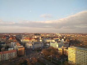 Blick vom Merkur Richtung Finanzamt (Leihhaus), Foto: S+H