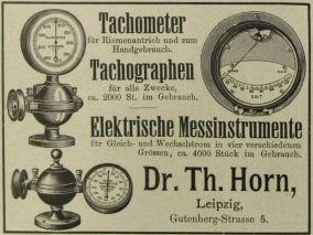 Horn-Reklame zur Sächs.-Thür. Industrie- u. Gewerbeausstellung 1897