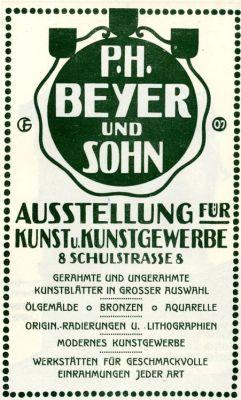 Anzeige im Leipziger Kalender für 1909