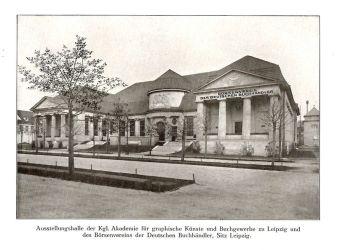 Ausstellungshalle von Akademie (heute HGB) und Börsenverein
