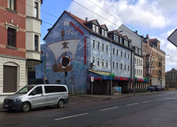Giebel in der Ossietzkystraße