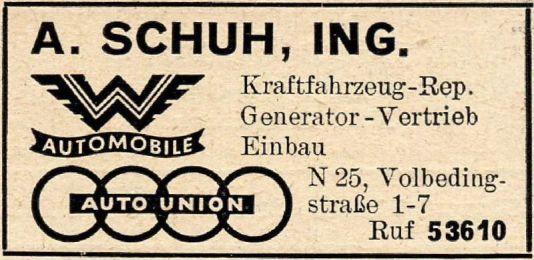 Aus dem Branchenfernsprechbuch für den Bezirk Leipzig von 1955