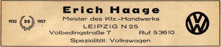 Aus dem Branchenfernsprechbuch für den Bezirk Leipzig von 1957