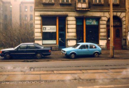 1991: Waldstraße, fast am Waldplatz