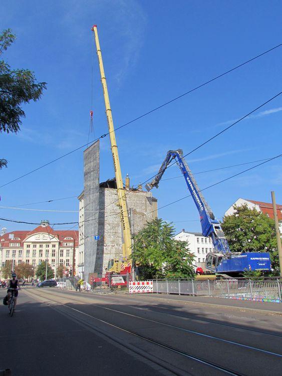Kurt-Schumacher-Straße, Blick zum Leihhaus Sept. 2018