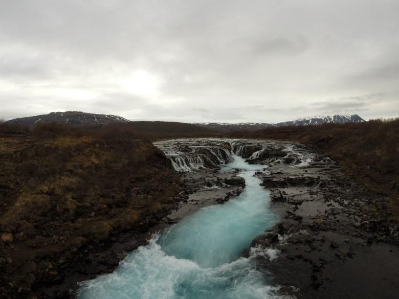 BRÚARFOSS - blauster Wasserfall Islands