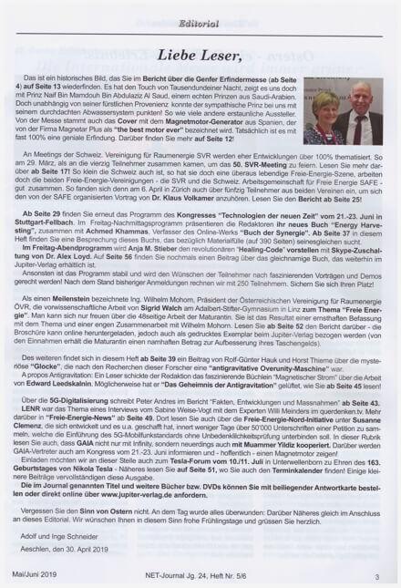 NET-Journal Editorial