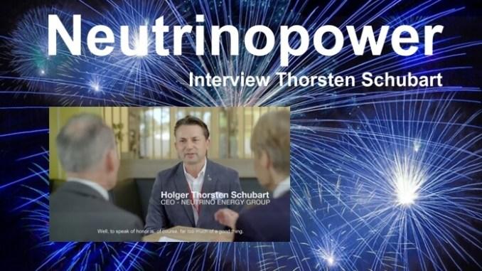 Neutrino Power - Interview Holger Thorsten Schubart