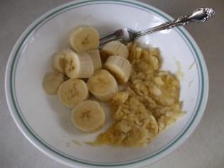 Mash up the bananas....