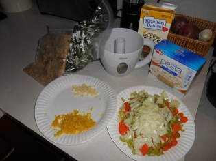 Most of the ingredients (I think I forgot a few in the picture!)...