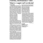 04-03-2017 Corriere del Trentino e dell'Alto Adige Polenta, mortadella e vino Marce e sagre nel weekend