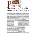 07-01-2017 Corriere dell'Alto Adige Maratone e chef in quota Eventi per veri buongustai