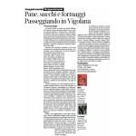07-05-2016 Corriere dell'Alto Adige Pane, succhi e formaggi passeggiando in Vigolana