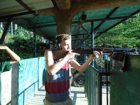 Guns. Oh, and a rifle.