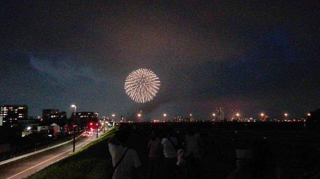 江戸川花火大会の花火