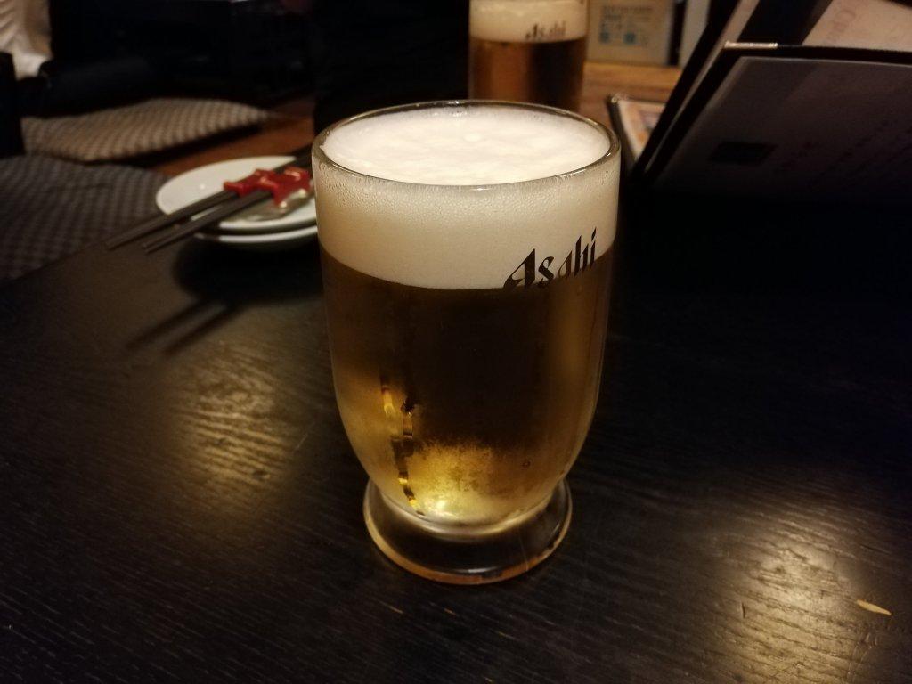 江戸川区瑞江の焼鳥居酒屋炭焼きみやいちの生ビール