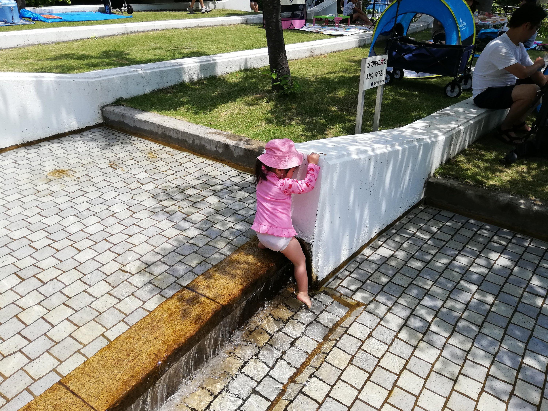江戸川区新長島川親水公園の噴水