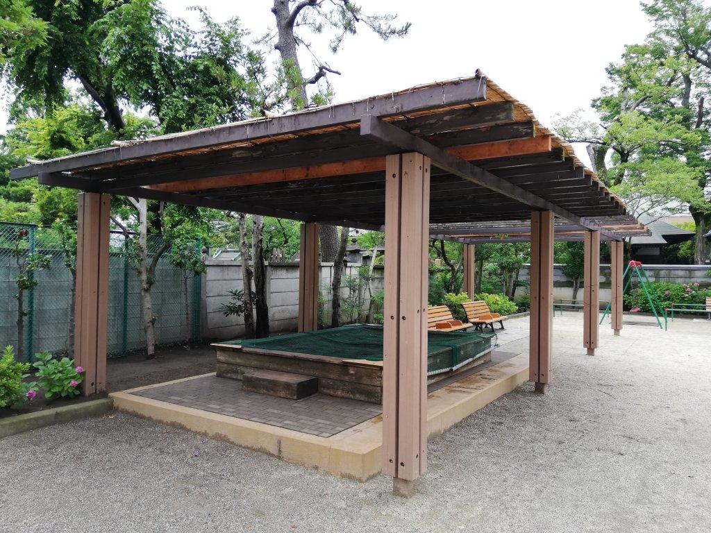 古川親水公園の砂場