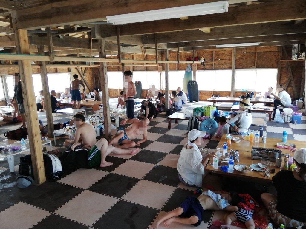 九十九里の白里海水浴場の海の家「海友」
