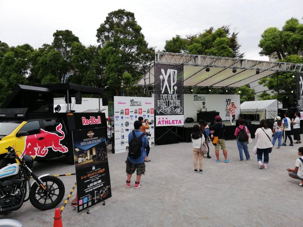 ストリートカルチャーイベント「XP」のステージ
