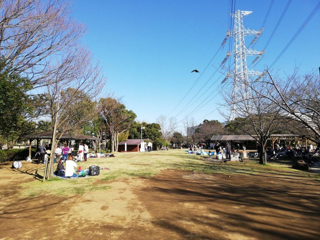 江戸川区葛西の富士公園にあるバーベキュー広場