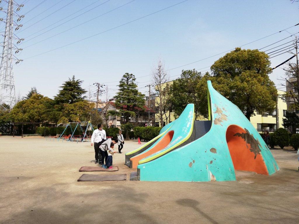 宇喜多東公園の滑り台