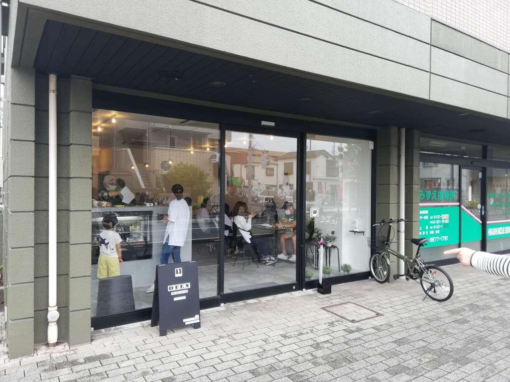 江戸川区瑞江のカフェBAKEの店舗外観