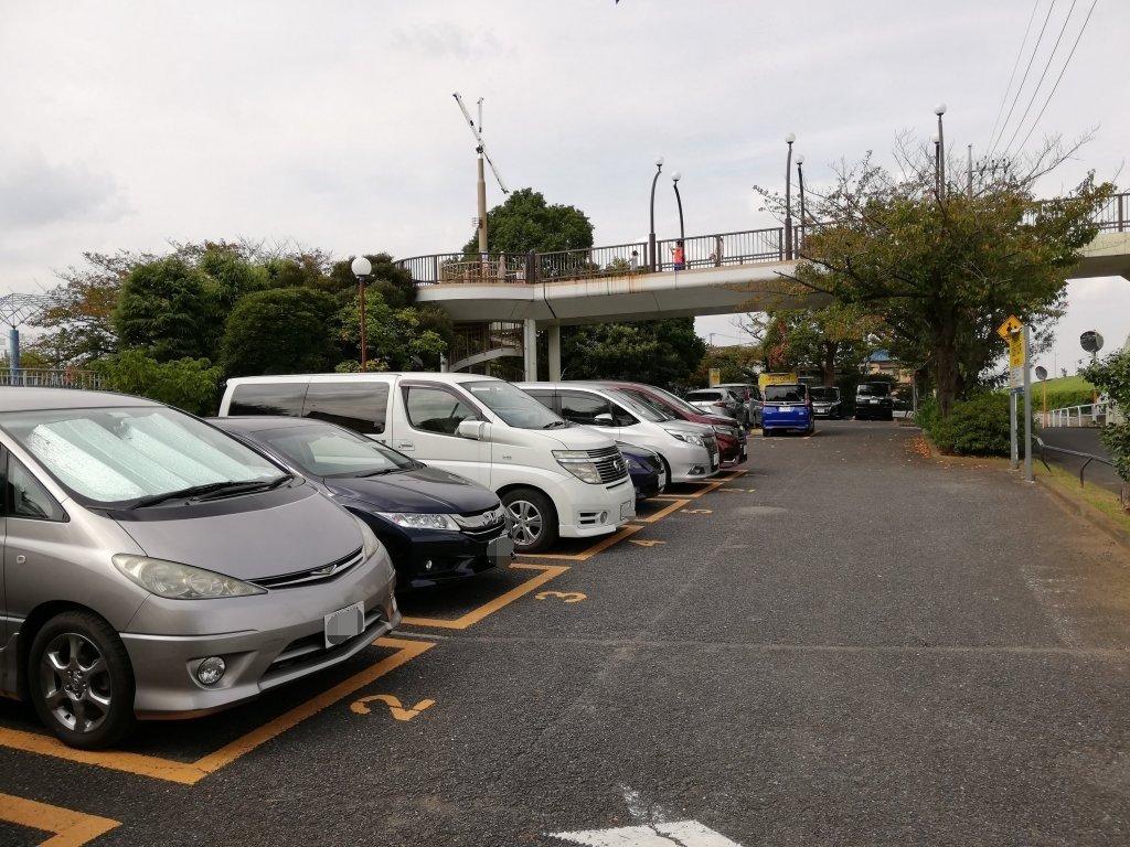 葛飾区北沼交通公園の駐車場
