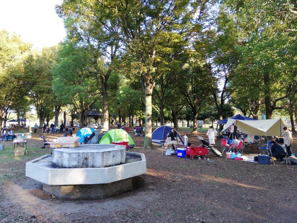 葛飾区水元公園のバーベキュー広場