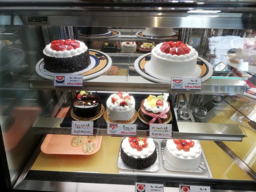 パティスリーパスカル本店のホールケーキ
