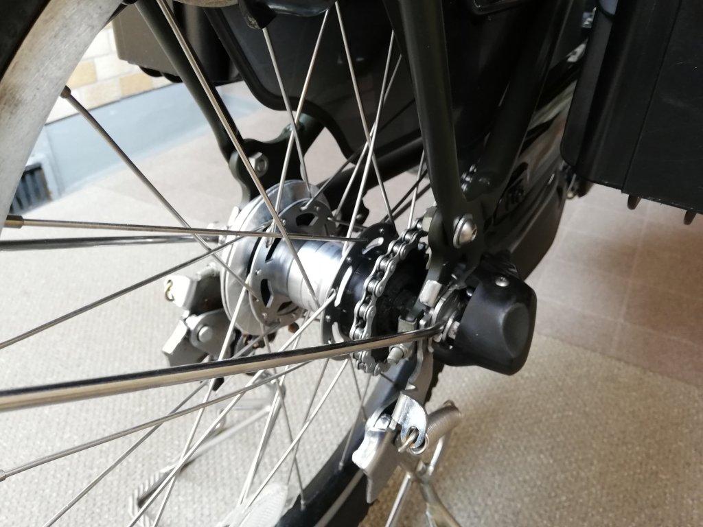 江戸川区のel bicycleで買った電動アシスト自転車Pas Kissのギヤ
