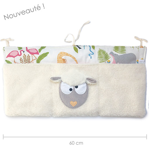 rangement mural 3 poches mouton made in france gekati