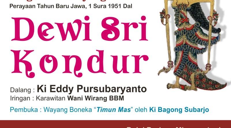 wayang kulit Dewi Sri Kondur