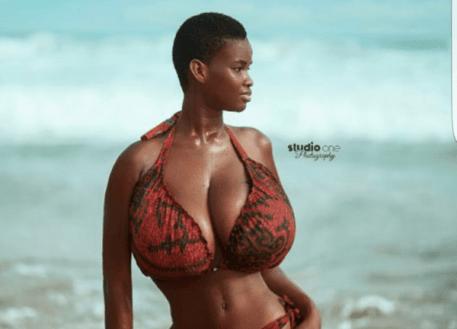 Pamela Odameh - big boobs