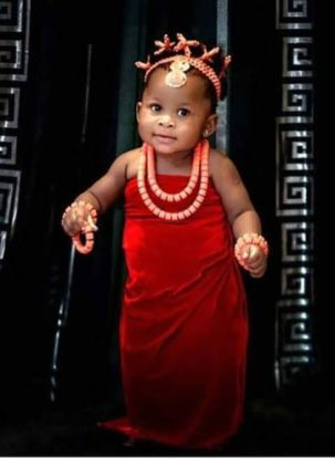 Igbo attire on baby girl
