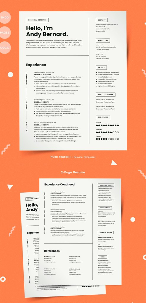 7 best word resume templates  graphic elements