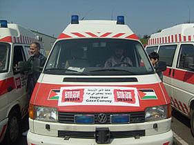 Dele af konvoj har fået adgang til Gaza