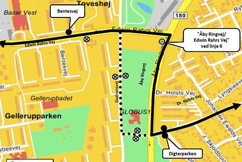 Busser kan ikke køre på Lottesvej