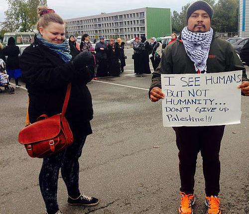Demonstration til støtte for Palæstina
