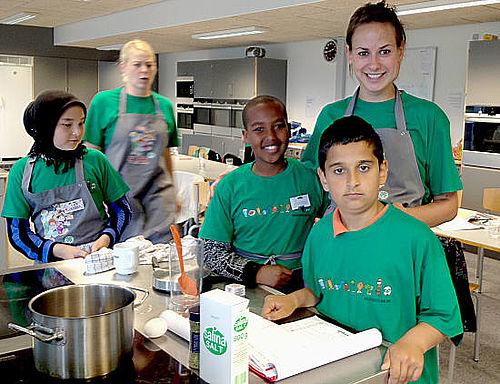 Børn laver alverdens mad