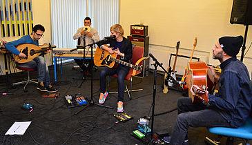 Fire musikere mødtes – og god musik opstod